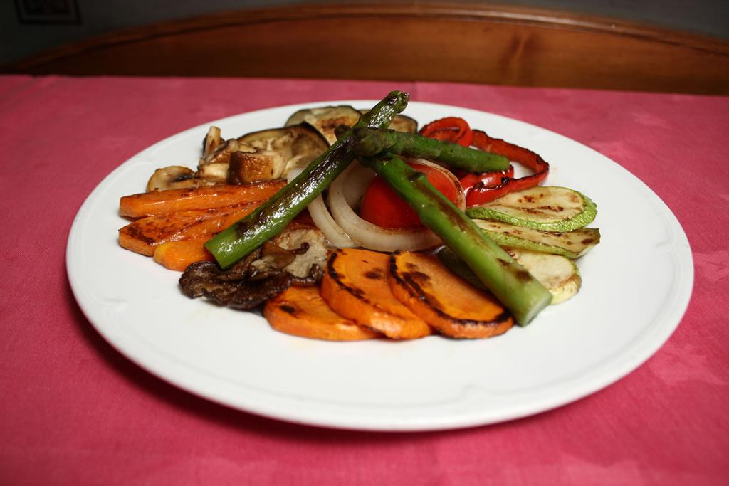 Verduras naturales a la plancha