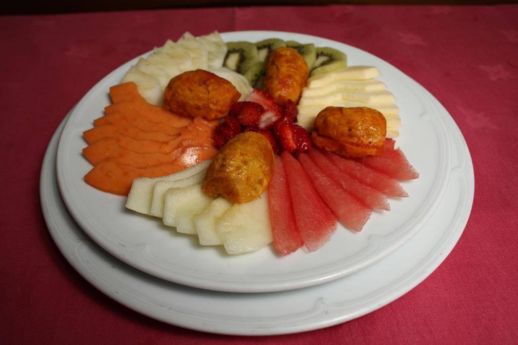 Fruta del tiempo y macedonia